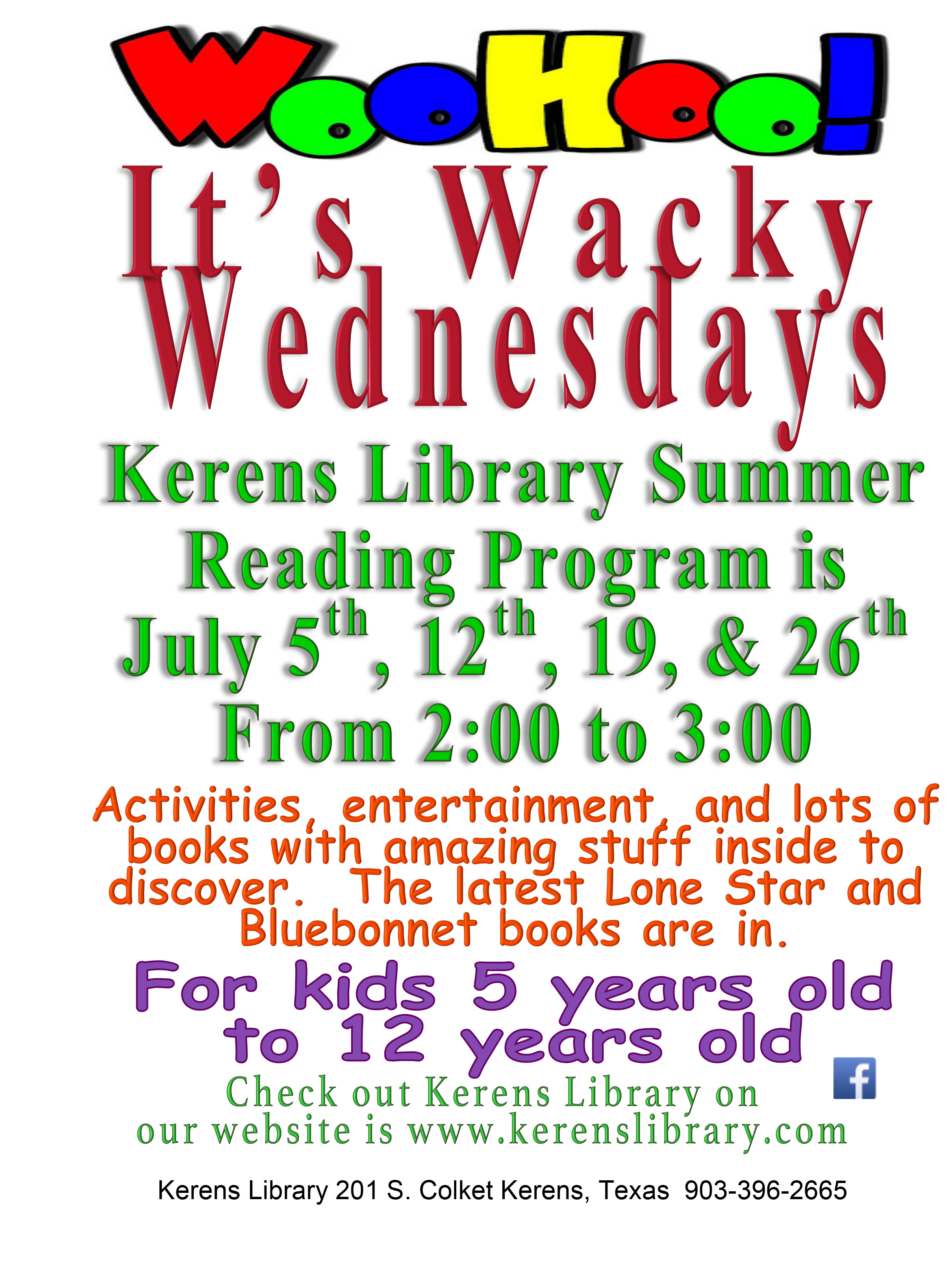 Summer Reading 2017 Kerens Library