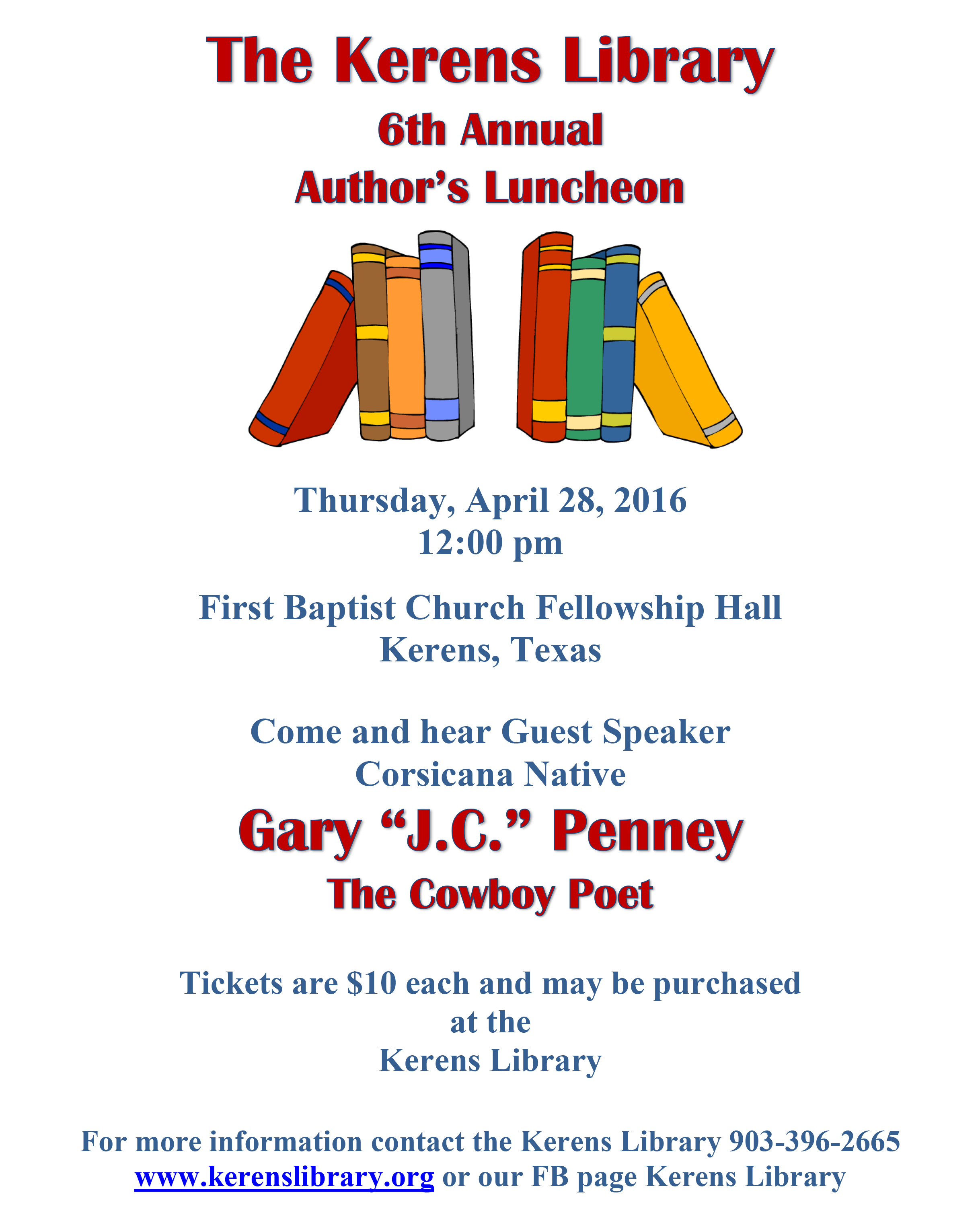 Kerens Library 6th Annual Author's Luncheon