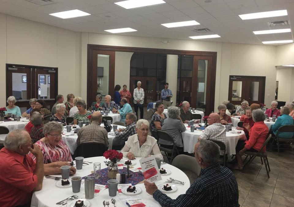 Gary Penney, The Cowboy Poet, entertained the crowd at the 2016 Kerens Library Author's Luncheon.