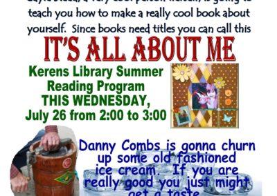 July 26 Reading Program Kerens